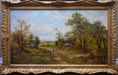 The Edge of Epping Forest - Large 19th Century English Landscape Oil Painting