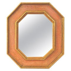 Octagonal French Mirror, Giltwood and Colors by Pascal & Annie