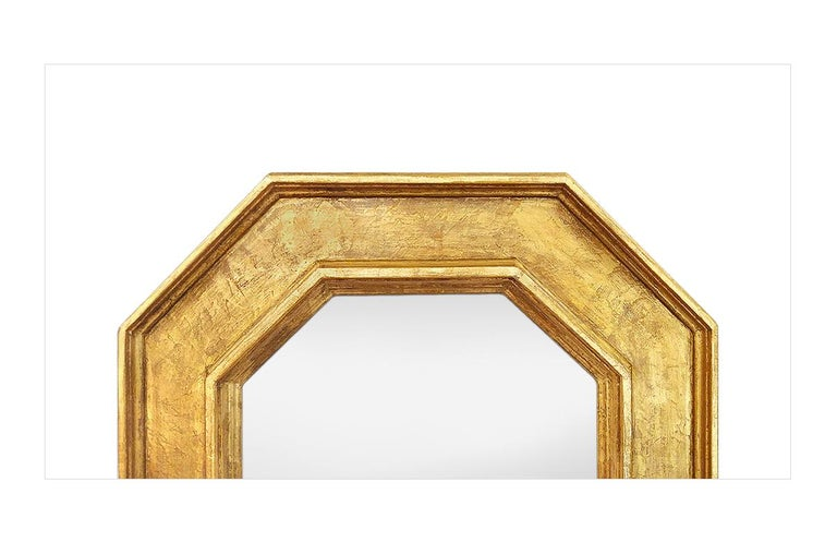 Octagonal Giltwood French Mirror by Pascal & Annie In Excellent Condition For Sale In Paris, FR