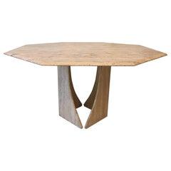 Octogonal Travertine Dining Table