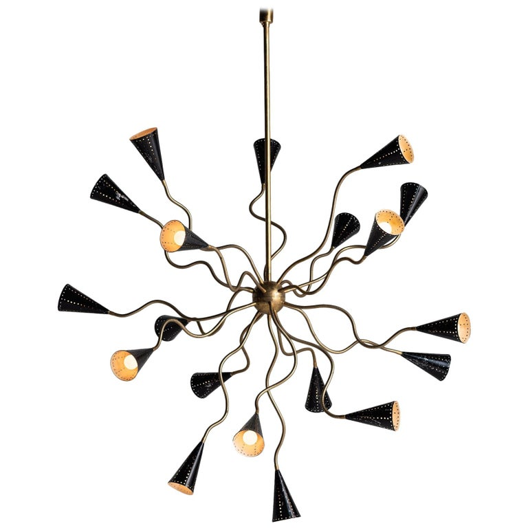 Octopus Sputnik Chandelier, Italy, circa 1960 For Sale