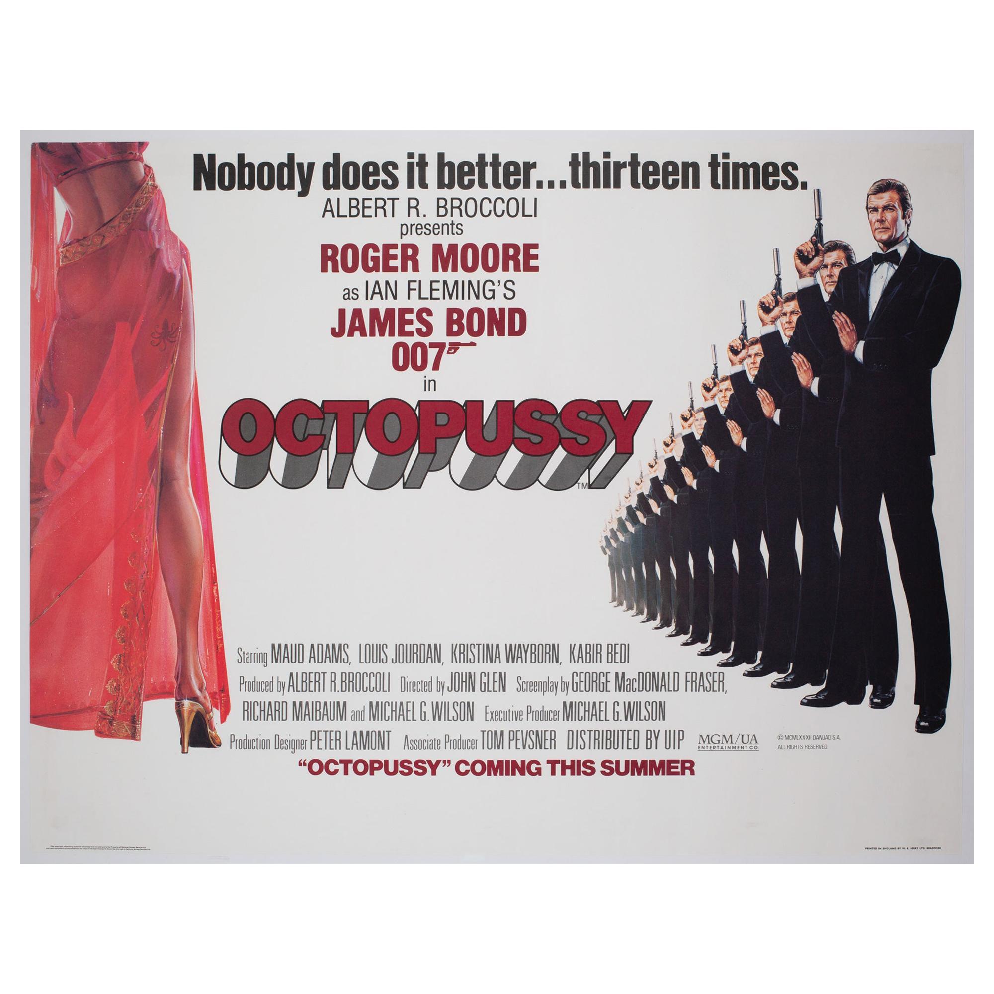 """Octopussy"" James Bond Original 1983 UK Quad Film Movie Poster, Daniel Goozee"