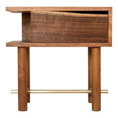 Ocum Nightstand, Mexican contemporary design, Caribbean walnut tropical wood