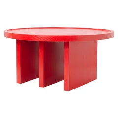 ODD Table Contemporary Side Table in Wood by Lucas Faber