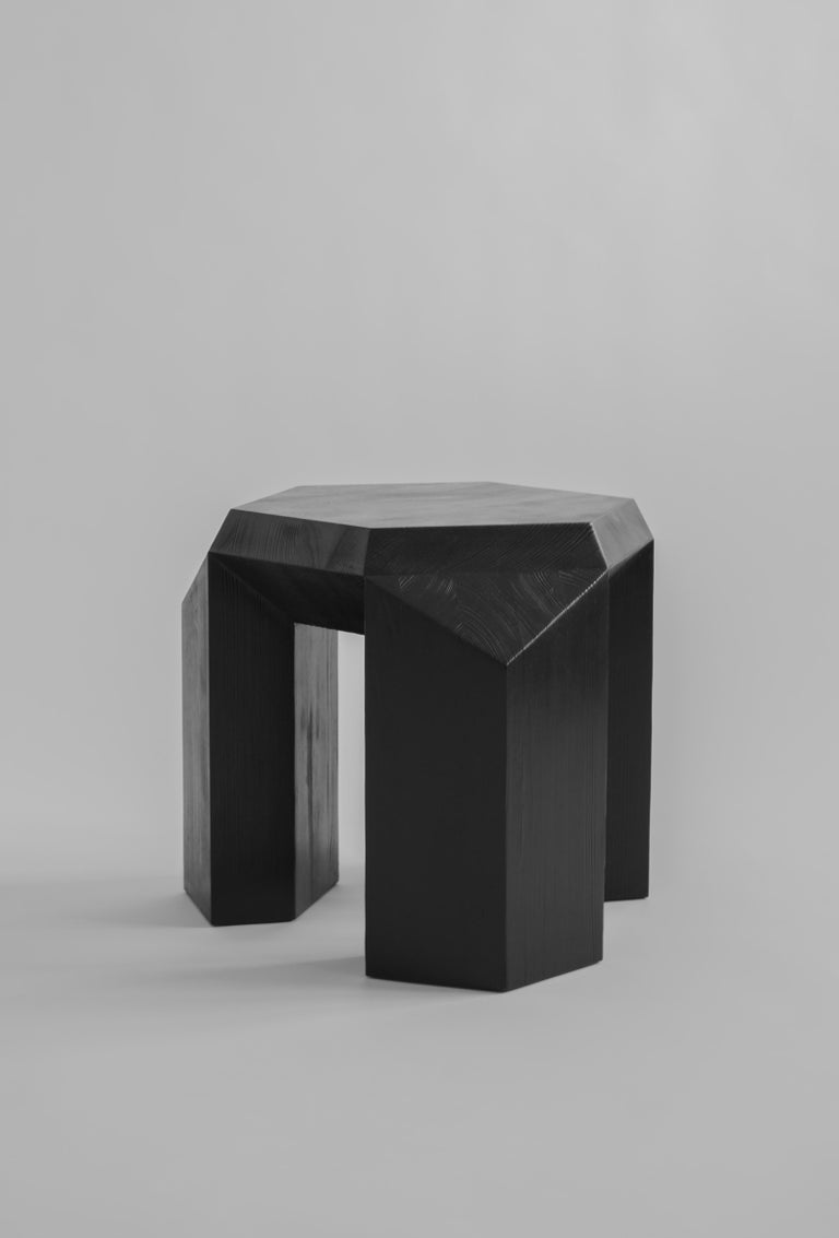 Contemporary Ode Three-Legged Stool by Sizar Alexis For Sale