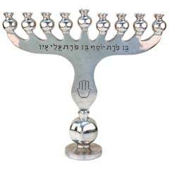 Oded Halahmy 'Chanukiah Welcomes' Modern Aluminium Cast Menorah