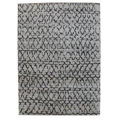 Charcoal Sari Lights Silk Rug, Odegard