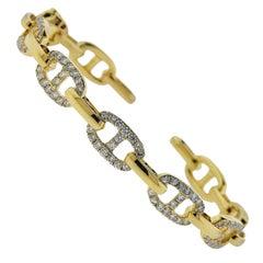 Odelia Gold Diamond Link Cuff Bracelet