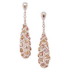 """Odelia"" Multi-Color Diamond Tear Drop Earrings"
