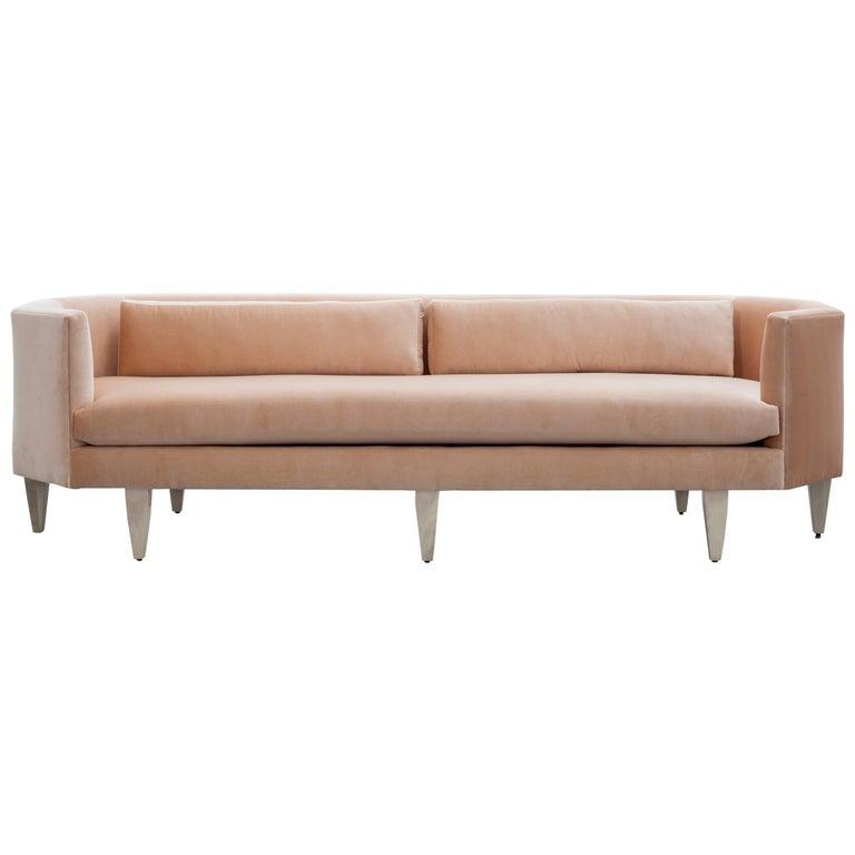 Odette Sofa Blush European Velvet For Sale