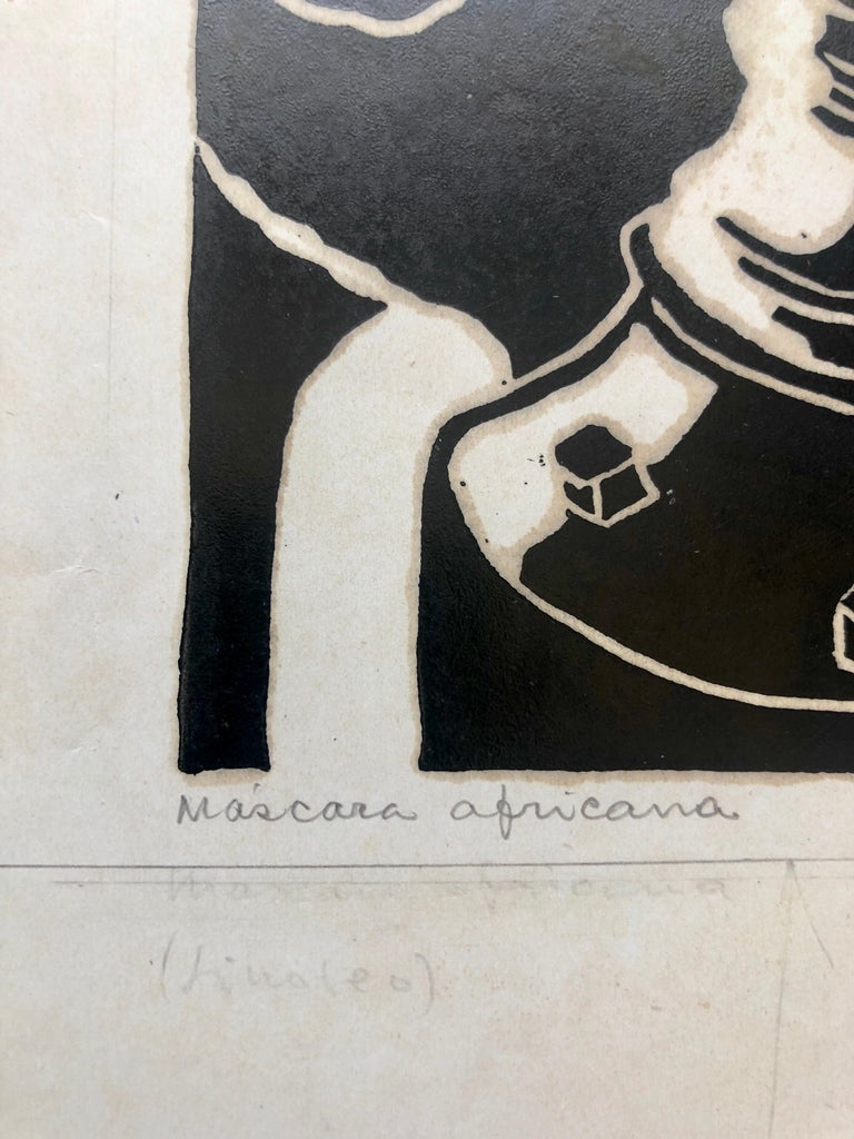 Genre: Brazilian Art Deco, African Diaspora Bahian Carnival Subject: harlequin clown Medium: Print Surface: Paper Country: Brazil Dimensions of overall paper are listed. This is from a series of work he did in the 1940's, we sold one called Ritmo