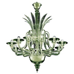 Odile 5307 12 Chandelier in Glass, by Barovier&Toso