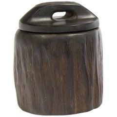 Odile Noll, Cylindrical Ebony Box, circa 1960
