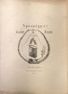 Apocalypse de Saint Jean - Complete Suite of Lithographs by O. Redon - 1899