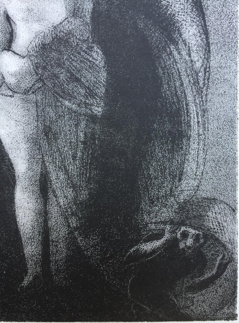 I Am Still the Great Isis... Je Suis Toujours.... - Black Figurative Print by Odilon Redon