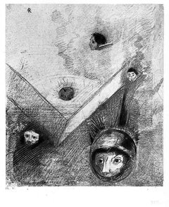 """Illustration from the series """"Les Fleurs du mal"""" - Etching After O. Redon"""