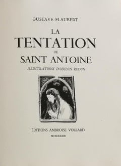 La Tentation de Saint Antoine, Gustave Flaubert's illustrated book by O. Redon