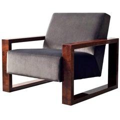 Odin Side Chair by DeMuro Das with Walnut Burl Arms