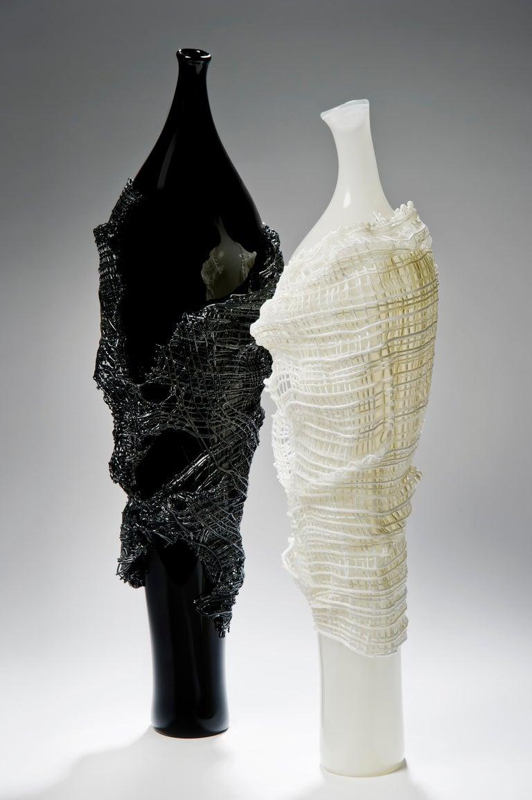Odysseus, a unique black hand-blown glass sculpture by Cathryn Shilling For Sale 1