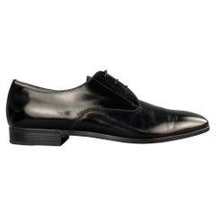 OES NEW PRADA Size 10 Black Leather Lace Up Dress Shoes