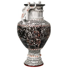 Of Course, You Weren't Made to be Subservient. Hand built carved porcelain vase