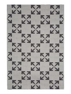 Off-White Arrow Patern Table Mat Set White Black