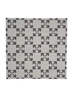 Off-White Arrow Pattern Napkin Set White Black