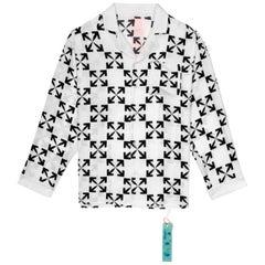 Off-White Arrow Pattern Pijama White Black Small
