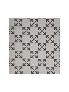 Off-White Arrow Pattern Table Cloth White Black