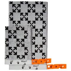 Off-White Arrow Pattern Towel Set White Black
