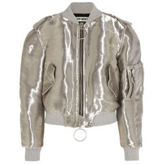 Off-White c/o Virgil Abloh Metallic Taffeta Bomber Jacket