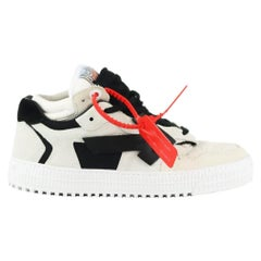Off-White C/O Virgil Abloh Neoprene, Suede & Leather Sneakers