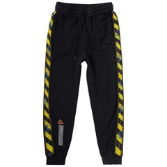 Off-White C/O Virgil Abloh Tape-Embroidered Cotton Sweatpants