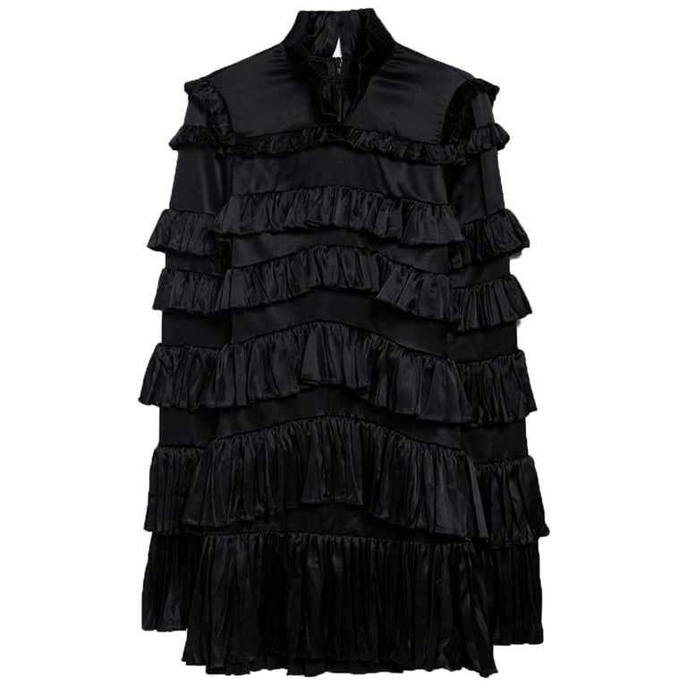Off-White c/o Virgil Abloh Tiered Ruffled Mini Dress  For Sale