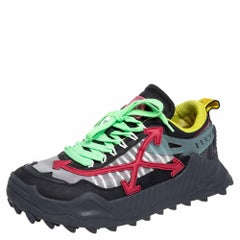 Off White Multicolor Mesh And Leather Odsy 1000 Low Top Sneakers Size 43