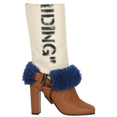 Off-White Woman Boots Camel Color Fabric IT 37