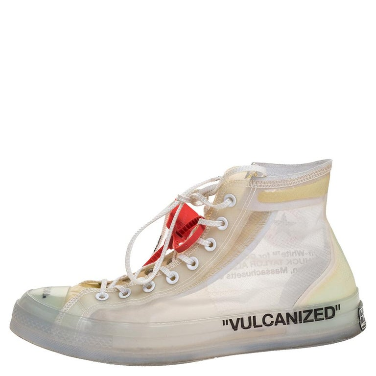 The Converse Chuck Taylor All Star gets reworked with Virgil Abloh's unique design approach in this pair. Inspired by the