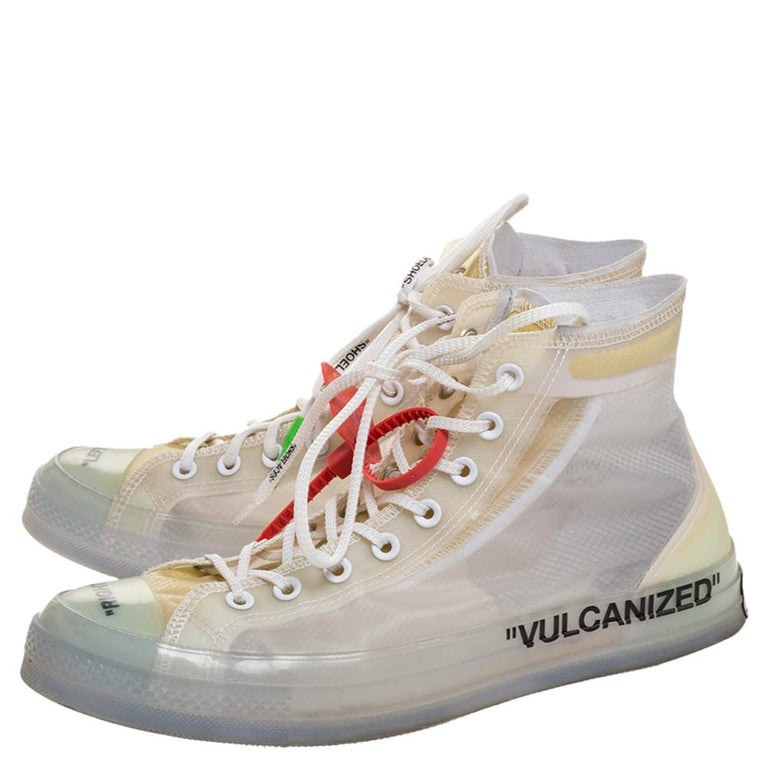 Off-White x Chuck Taylor All Star Mesh & Rubber Vulcanized Hi Top Sneaker Size45 For Sale 1