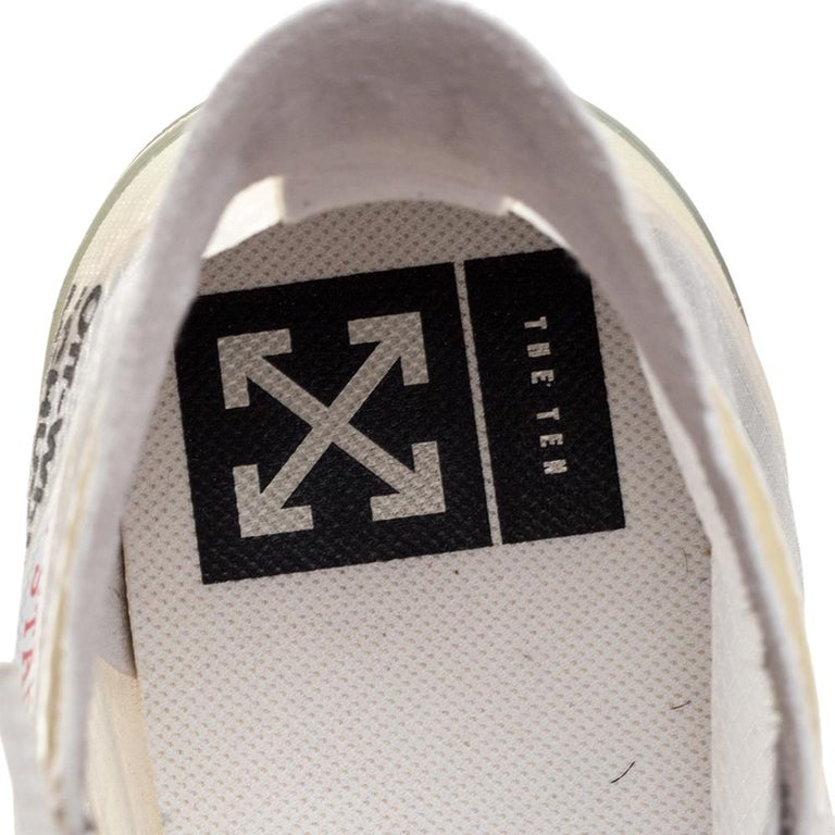Off-White x Chuck Taylor All Star Mesh & Rubber Vulcanized Hi Top Sneaker Size45 For Sale 2