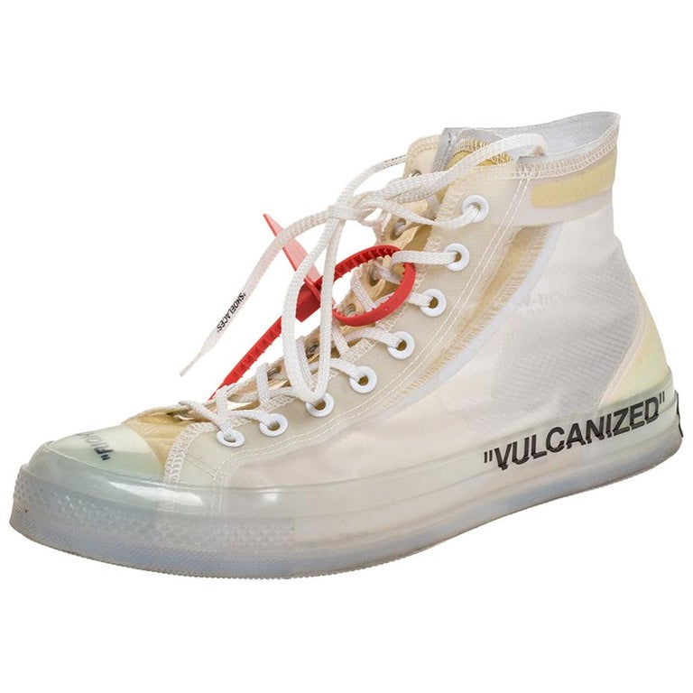 Off-White x Chuck Taylor All Star Mesh & Rubber Vulcanized Hi Top Sneaker Size45 For Sale