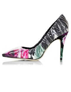 Off-White x Jimmy Choo Floral Printed Chisel Toe Anne 100 Pumps Sz 39.5 NIB