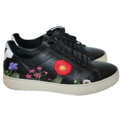 OFF WHITE x Virgil Abloh Floral-Embroidered Low-Top Sneakers