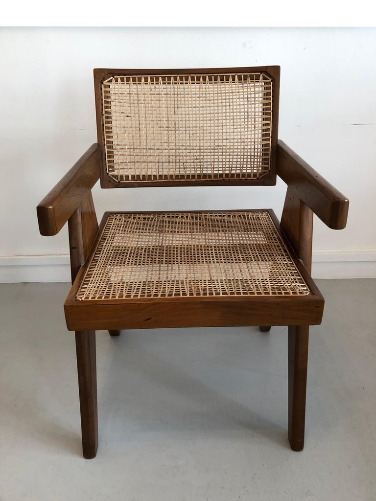 Office armchair by Pierre Jeanneret from Chandigarh (India) for administration buildings, 1950s.