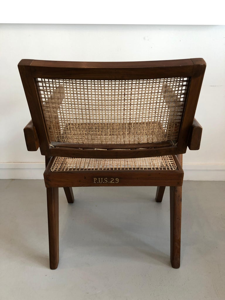 Indian Office Armchair by Pierre Jeanneret from Chandigarh, 1950s For Sale