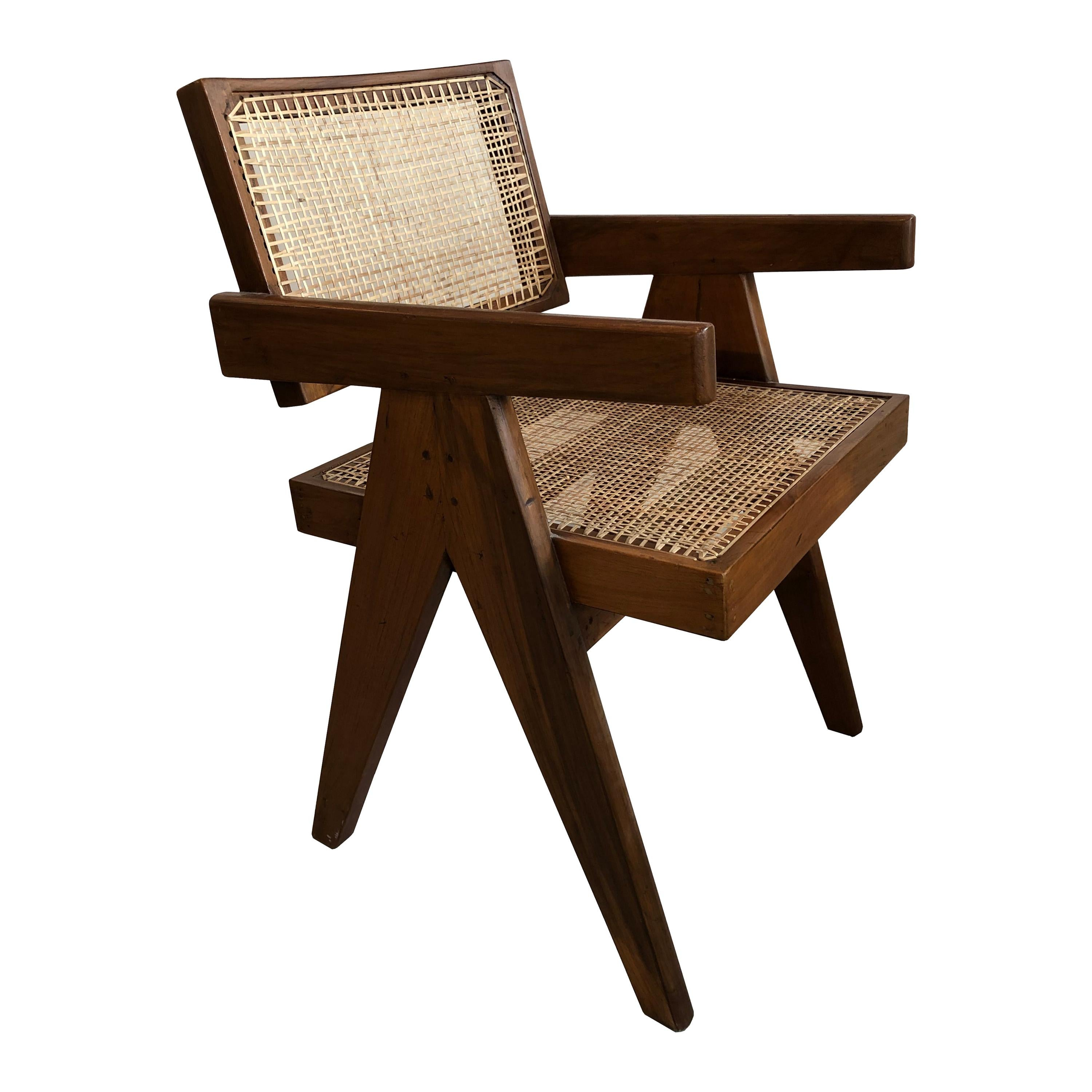 Office Armchair by Pierre Jeanneret from Chandigarh, 1950s