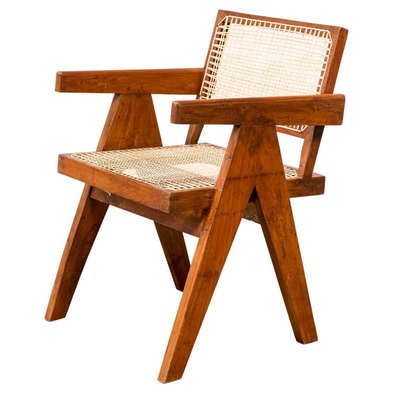 Office Armchair by Pierre Jeanneret, India, 1950s For Sale