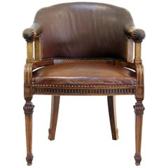 Office Chair Antique Early Days Armchair Office Armchair Leather Vintage Chair