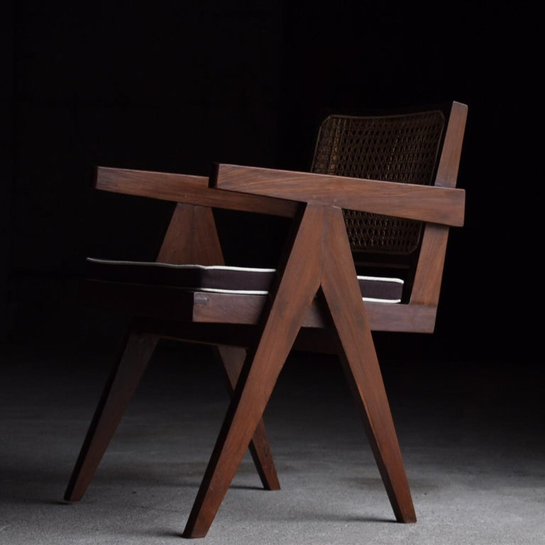 Indian Office Chair by Pierre Jeanneret For Sale