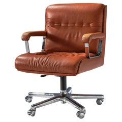 Office Chair in Terracotta Leather andRing Mekanikk