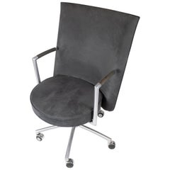 Office Chair, Model EJ70, Upholstered with Dark Grey Fabric by Johannes Foersom